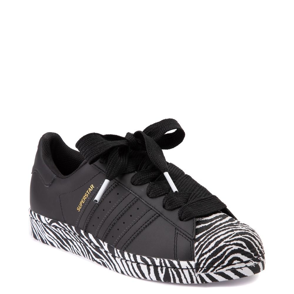 Womens adidas Superstar Athletic Shoe - Black / Zebra