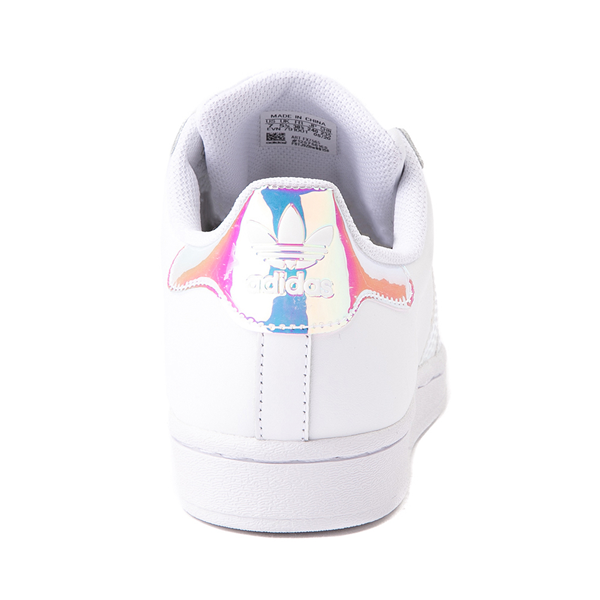alternate view Womens adidas Superstar Athletic Shoe - White / IridescentALT4