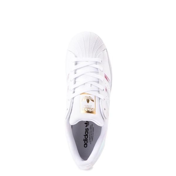 alternate view Womens adidas Superstar Athletic Shoe - White / IridescentALT4B