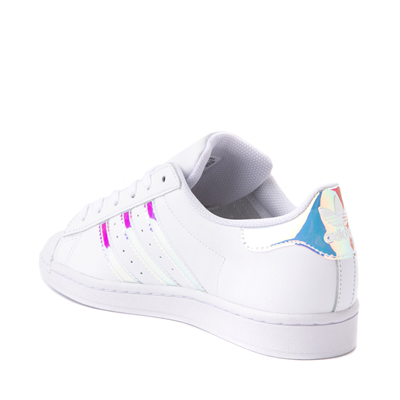 Alternate view of Womens adidas Superstar Athletic Shoe - White / Iridescent