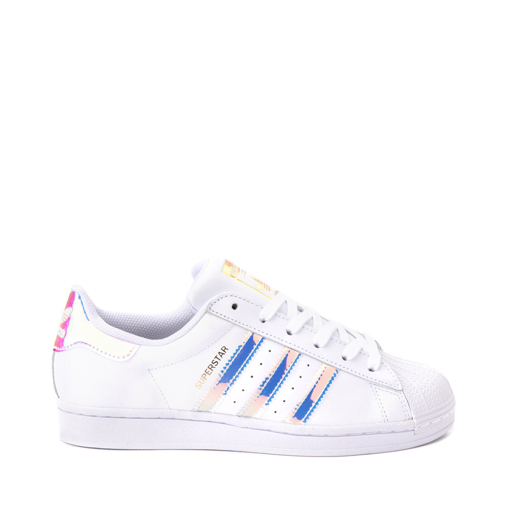 Womens adidas Superstar Athletic Shoe - White / Iridescent