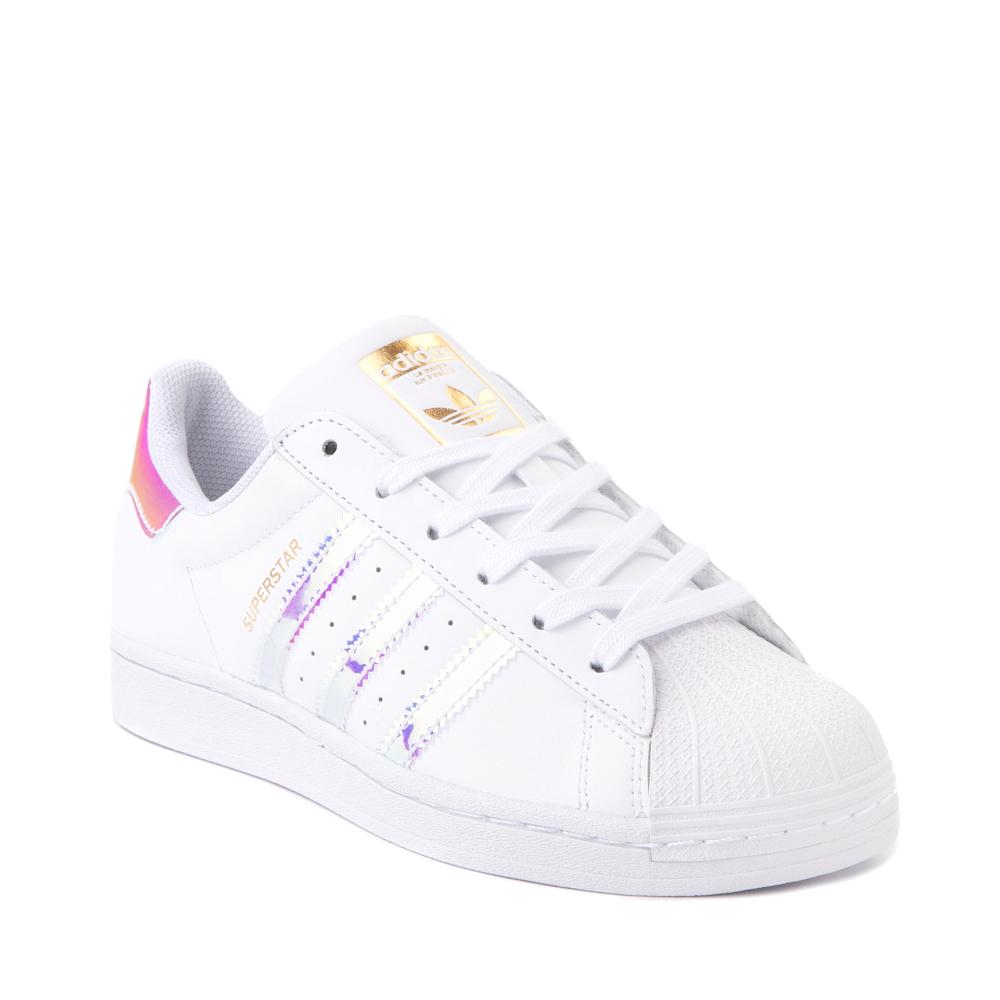 Womens adidas Superstar Athletic Shoe - White / Iridescent