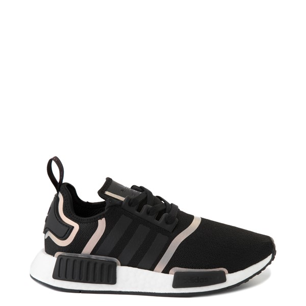 Main view of Womens adidas NMD R1 Athletic Shoe - Black / Iridescent