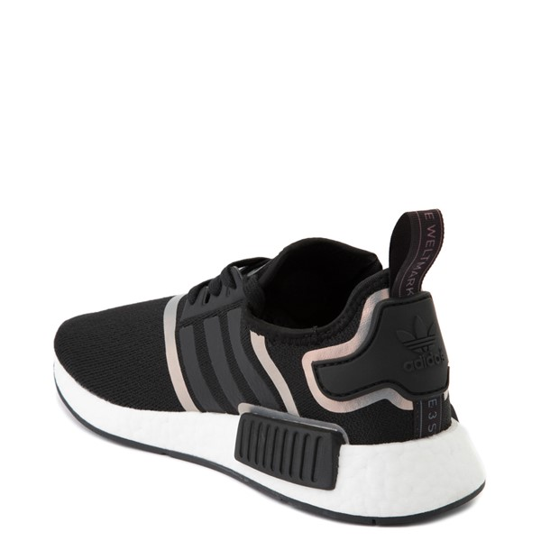 alternate view Womens adidas NMD R1 Athletic Shoe - Black / IridescentALT1