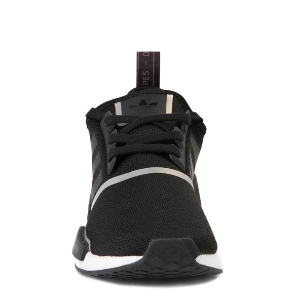 alternate view Womens adidas NMD R1 Athletic Shoe - Black / IridescentALT4
