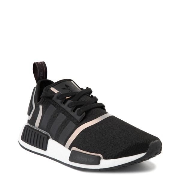 alternate view Womens adidas NMD R1 Athletic Shoe - Black / IridescentALT5