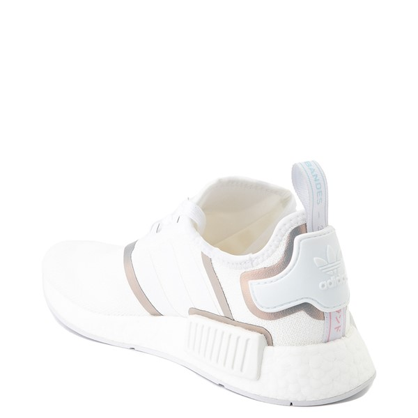 alternate view Womens adidas NMD R1 Athletic Shoe - White / IridescentALT1