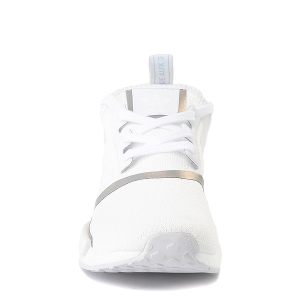alternate view Womens adidas NMD R1 Athletic Shoe - White / IridescentALT4