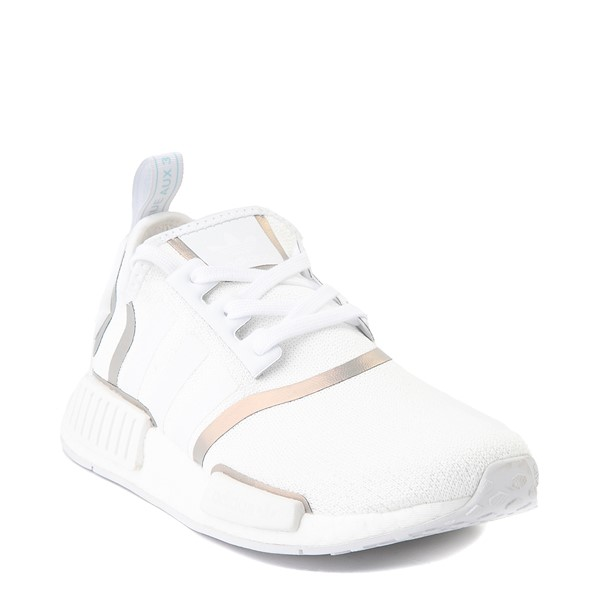 alternate view Womens adidas NMD R1 Athletic Shoe - White / IridescentALT5