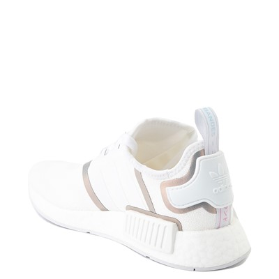 Alternate view of Womens adidas NMD R1 Athletic Shoe - White / Iridescent