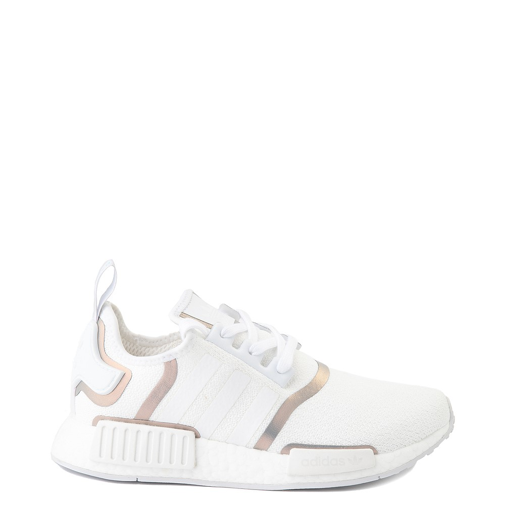 Womens adidas NMD R1 Athletic Shoe - White / Iridescent