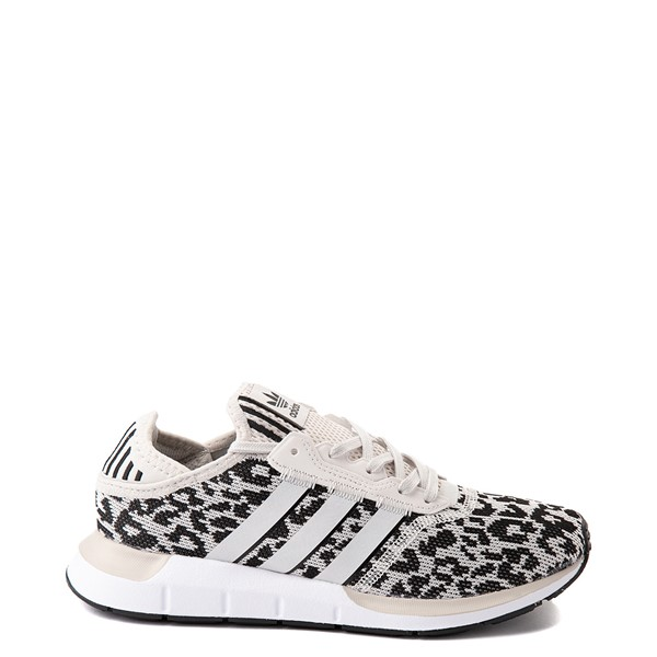 Main view of Womens adidas Swift Run X Athletic Shoe - Leopard