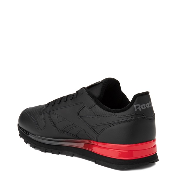 alternate view Mens Reebok Classic Athletic Shoe - Black / RedALT1