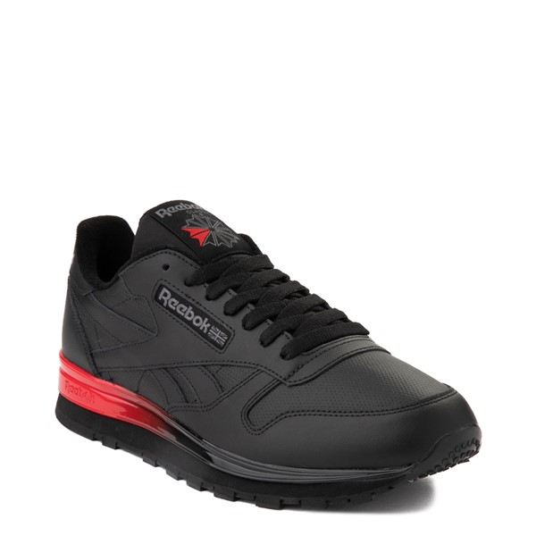 alternate view Mens Reebok Classic Athletic Shoe - Black / RedALT5