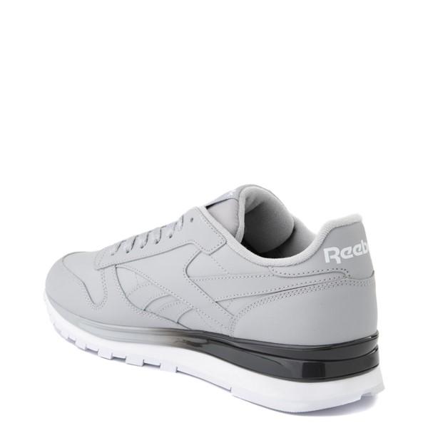 alternate view Mens Reebok Classic Leather Clip Athletic Shoe - Gray / CharcoalALT1