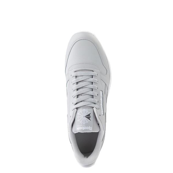 alternate view Mens Reebok Classic Leather Clip Athletic Shoe - Gray / CharcoalALT2