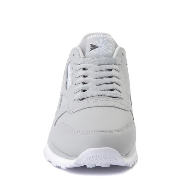 alternate view Mens Reebok Classic Leather Clip Athletic Shoe - Gray / CharcoalALT4