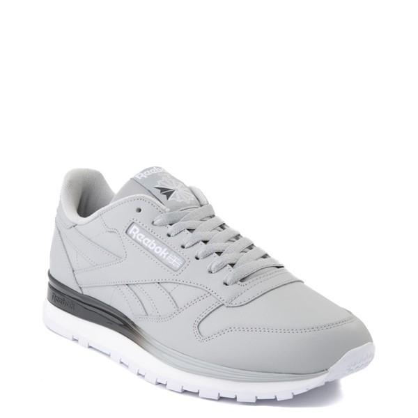alternate view Mens Reebok Classic Leather Clip Athletic Shoe - Gray / CharcoalALT5