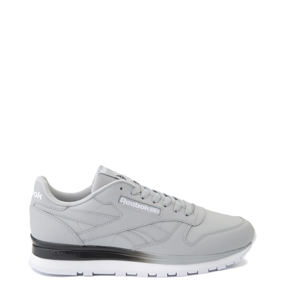 Mens Reebok Classic Leather Clip Athletic Shoe - Gray / Charcoal