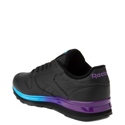 Alternate view of Womens Reebok Classic Athletic Shoe - Black / Purple
