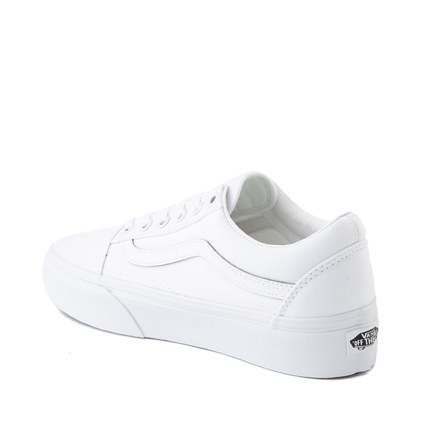 alternate view Vans Old Skool Platform Skate Shoe - White MonochromeALT1