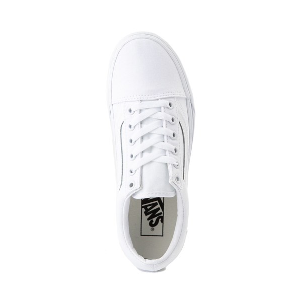 alternate view Vans Old Skool Platform Skate Shoe - White MonochromeALT2