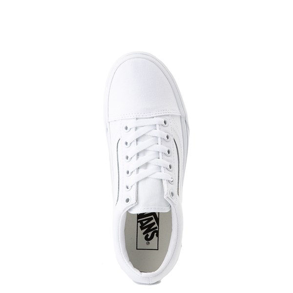 alternate view Vans Old Skool Platform Skate Shoe - White MonochromeALT4B