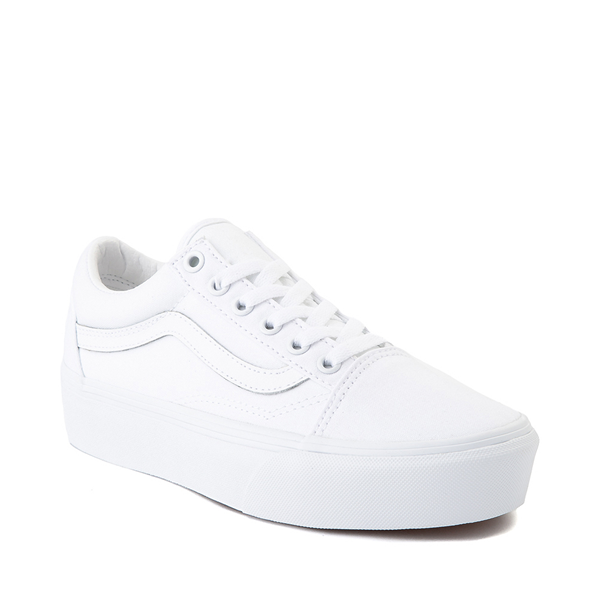 alternate view Vans Old Skool Platform Skate Shoe - White MonochromeALT5