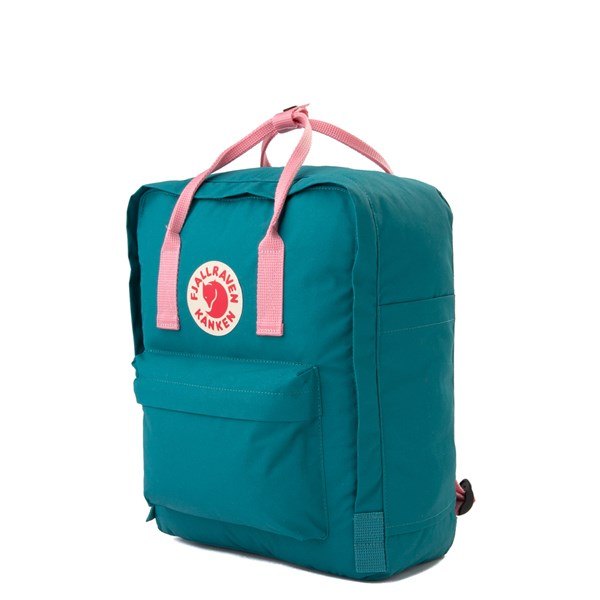 alternate view Fjallraven Kanken Backpack - Ocean Green / PinkALT2