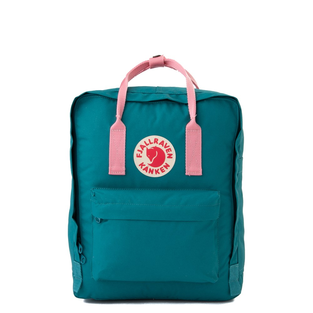 Fjallraven Kanken Backpack - Ocean Green / Pink