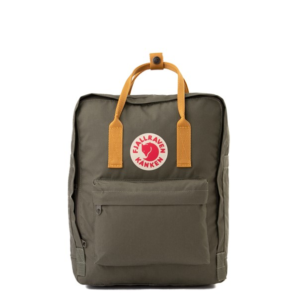 Main view of Fjallraven Kanken Backpack - Olive / Ochre