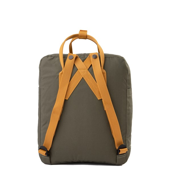 alternate view Fjallraven Kanken Backpack - Olive / OchreALT1