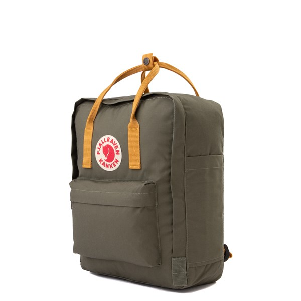 alternate view Fjallraven Kanken Backpack - Olive / OchreALT2