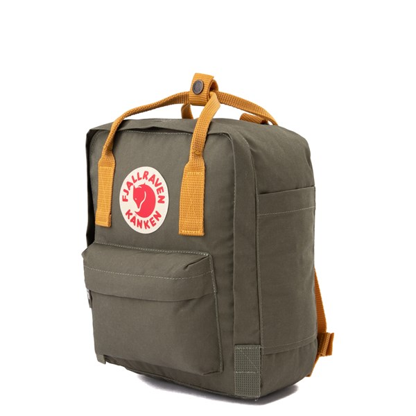 alternate view Fjallraven Kanken Mini Backpack - Olive / OchreALT2
