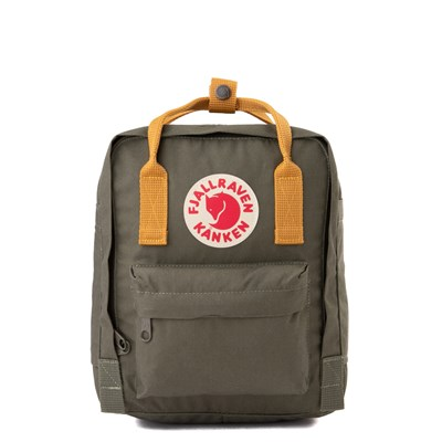 Main view of Fjallraven Kanken Mini Backpack - Olive / Ochre