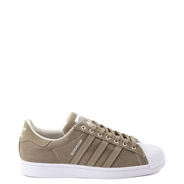 Mens adidas Superstar Waxed Canvas Athletic Shoe - Olive / White