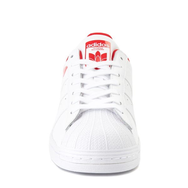 alternate view Mens adidas Superstar 3D Trefoil Athletic Shoe - White / RedALT4