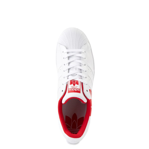 alternate view Mens adidas Superstar 3D Trefoil Athletic Shoe - White / RedALT4B