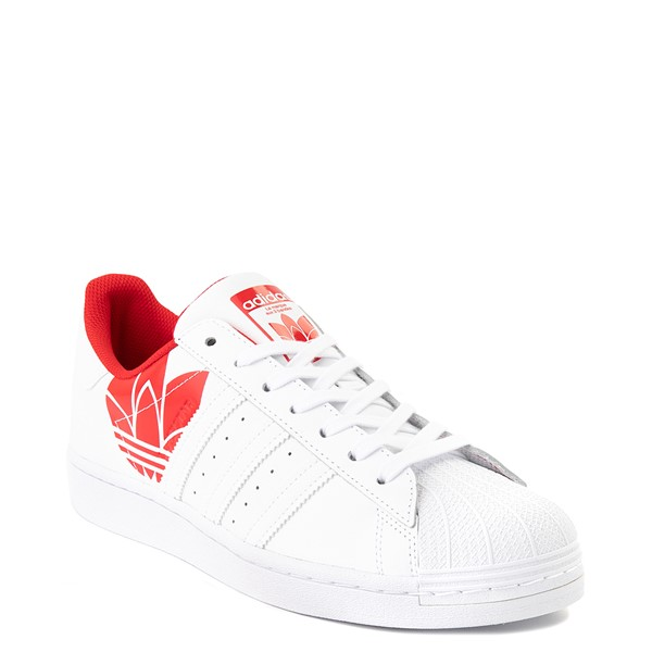 alternate view Mens adidas Superstar 3D Trefoil Athletic Shoe - White / RedALT5