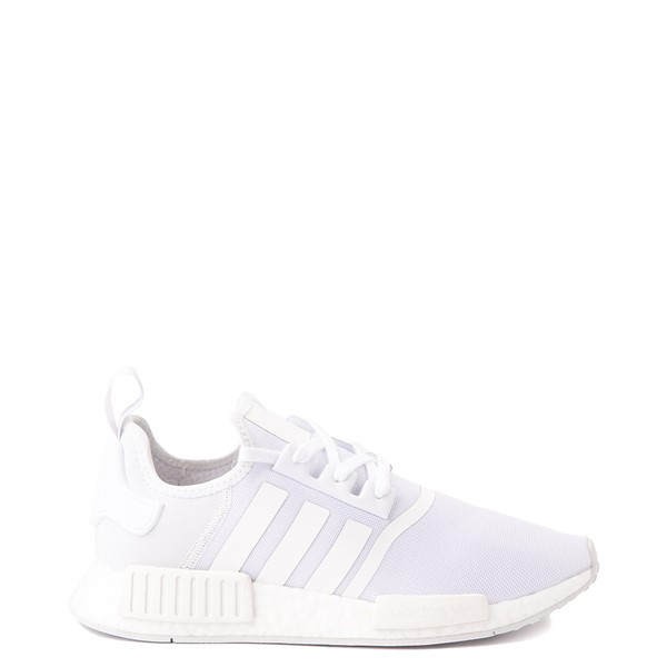 Mens adidas NMD R1 Athetic Shoe - White Monochrome