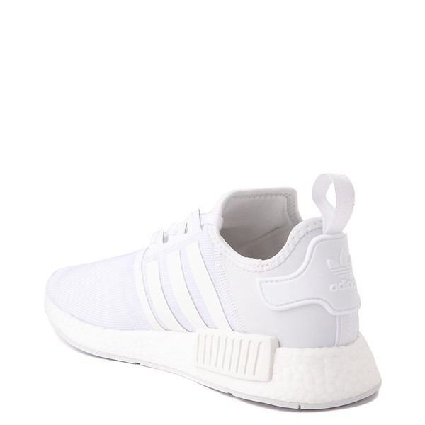 alternate view Mens adidas NMD R1 Athetic Shoe - White / MonochromeALT1