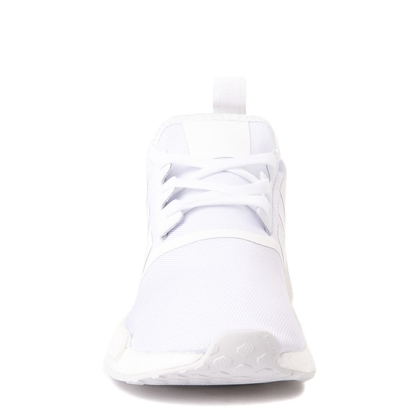 alternate view Mens adidas NMD R1 Athetic Shoe - White MonochromeALT4