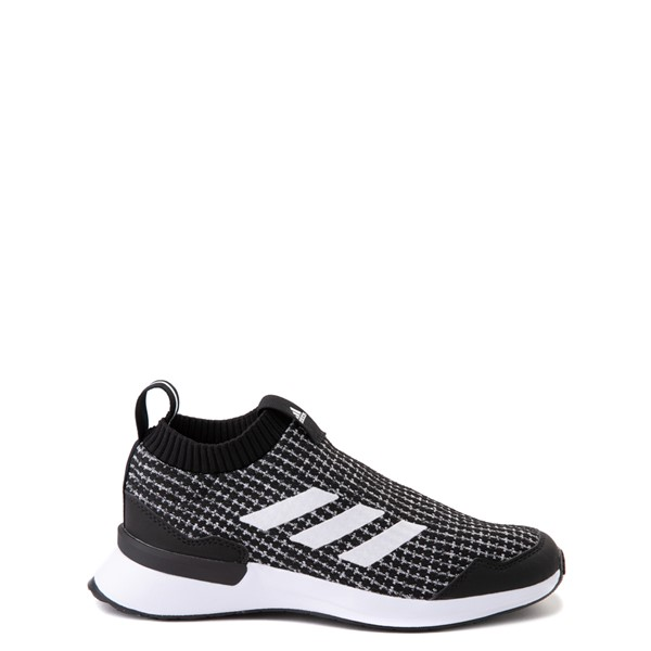 Main view of adidas RapidaRun Laceless Athletic Shoe - Big Kid - Black / White