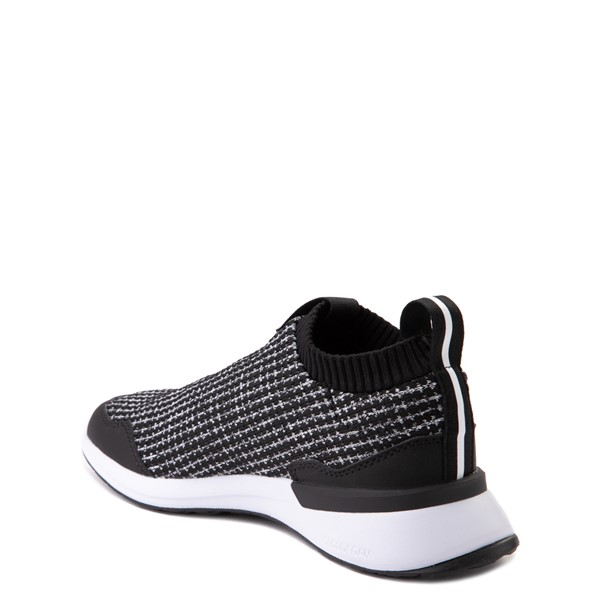 alternate view adidas RapidaRun Laceless Athletic Shoe - Big Kid - Black / WhiteALT1