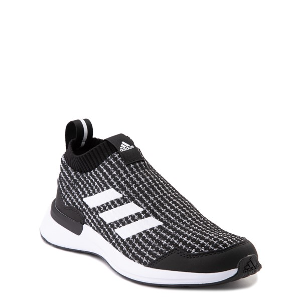 alternate view adidas RapidaRun Laceless Athletic Shoe - Big Kid - Black / WhiteALT5