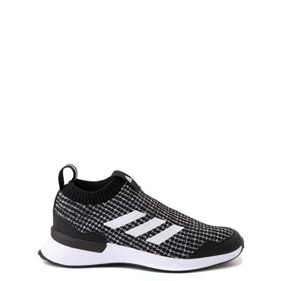 Main view of adidas RapidaRun Laceless Athletic Shoe - Big Kid - Black / White