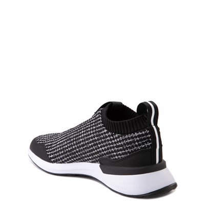 Alternate view of adidas RapidaRun Laceless Athletic Shoe - Big Kid - Black / White