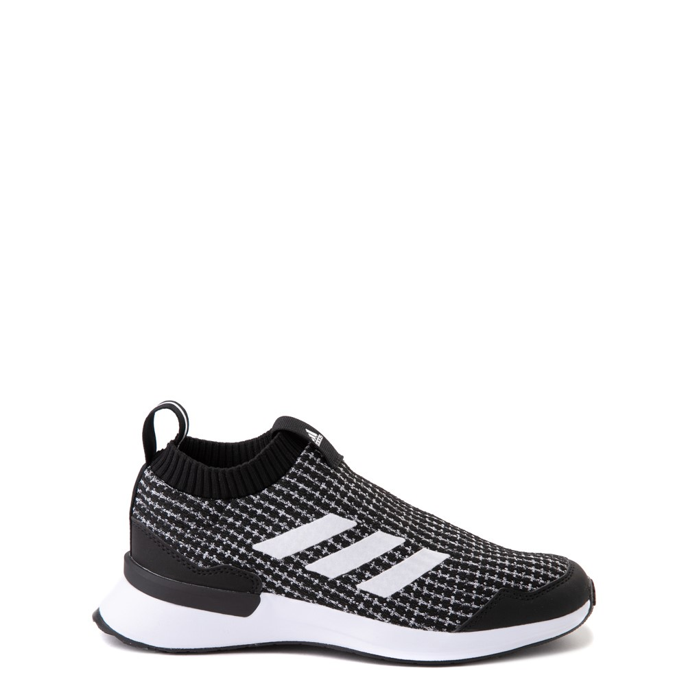 adidas RapidaRun Laceless Athletic Shoe - Big Kid - Black / White