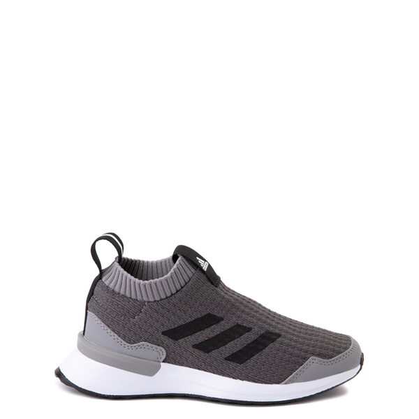 Main view of adidas RapidaRun Laceless Athletic Shoe - Little Kid - Gray