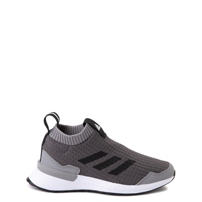 Main view of adidas RapidaRun Laceless Athletic Shoe - Little Kid - Gray